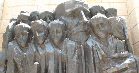 Janusz Korczak Memorial at Yad Vashem honors one who sheltered Jewish children during the holocaust