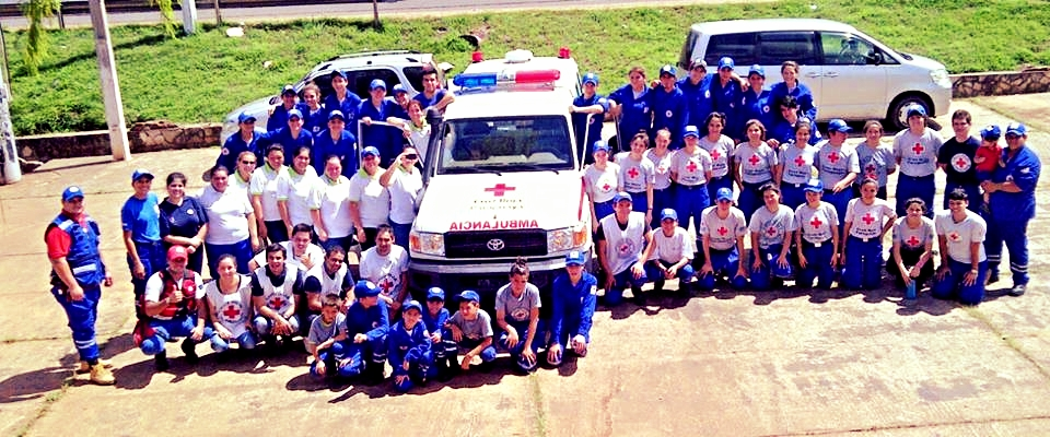 Volunteers with the Paraguay Red Cross