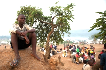 A Burundian teenager at Mahama (Zoe Flood/Guardian)
