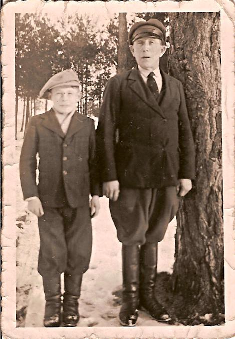 Fotografía de Mike Piorkowski y su padre, Stanislaw
