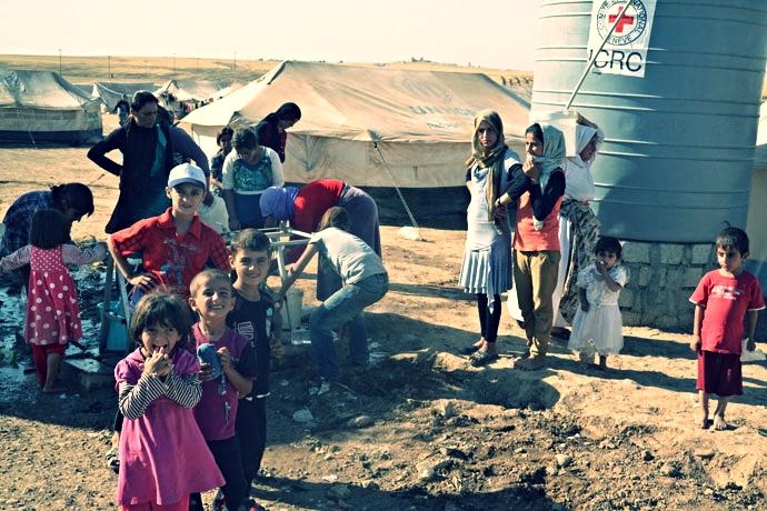 CICR ha proporcionado agua, comida, suministros médicos y más.
