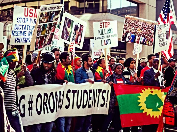 Oromo Students Solidarity Protest in Washington, D.C. Courtesy of creative commons  @ctj71081 .