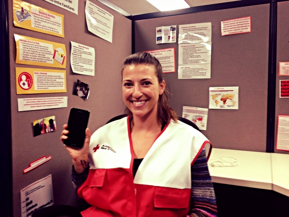 The Red Cross Restoring Family Links phone program helps reconnect families separated by conflict, disaster and migration.