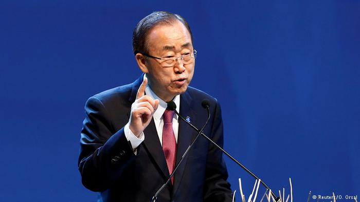 UN General Ban Ki-moon at World Humanitarian Summit. Photo Credit: Reuters