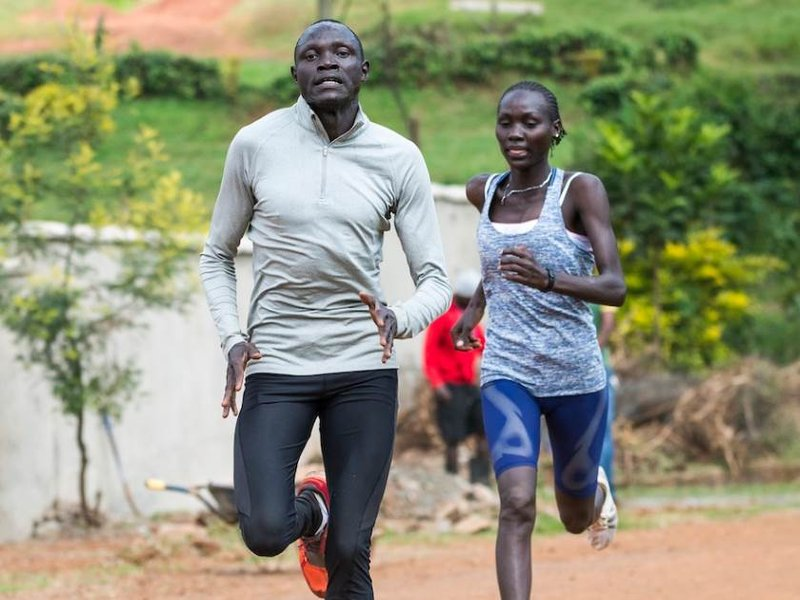 Paul Amotun Lokoro and Anjelina Nadai Lohalith of South Sudan, part of the Olympic's first team of refugees. Photo Credit: International Olympic Committee.