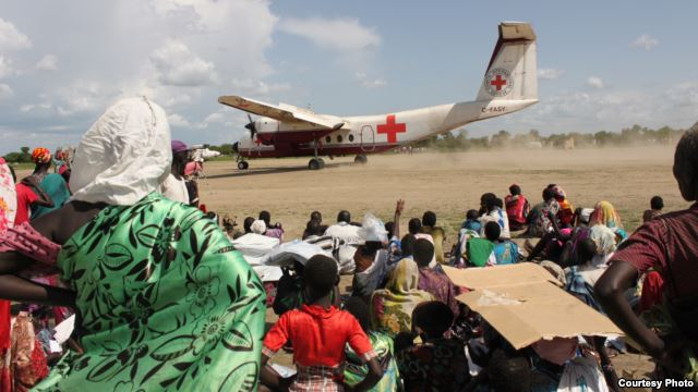 International Committee of the Red Cross, ICRC, has conducted medical evacuations of people wounded in South Sudan's conflict. Photo Credit: ICRC.