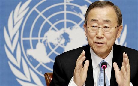 UN Secretary General Ban Ki-moon. Photo Credit: Reuters