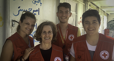 Volunteers of the Hellenic Red Cross youth team. Photo Credit: Anita Dullard, IFRC