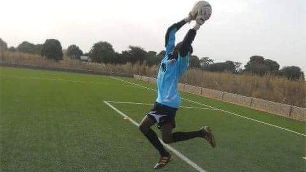 Fatim Jawara on the field. Photo Credit: Gambia Football Federation