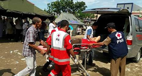 """The Indonesian Red Cross has mobilized its network of volunteers to support search, rescue and body retrieval efforts."" Photo Credit: Indonesian Red Cross"