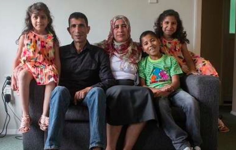Nazeh and Mirvat have resettled in New Zealand with their children after fleeing conflict in Syria. Photo Credit: John Williams/New Zealand Red Cross
