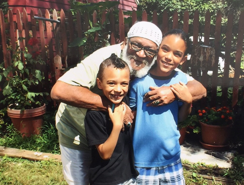Albert Fulton with two of his grandchildren. Photo courtesy of Mr. Fulton.