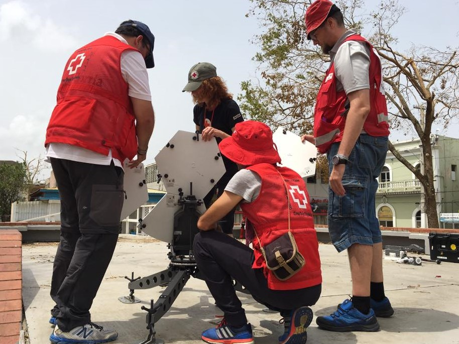 We worked with a number of other national societies during our deployment, including the Spanish and Finnish Red Cross.