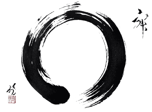 "The ""Enso"" symbol that represents the Universe and the vacuity. The Void."