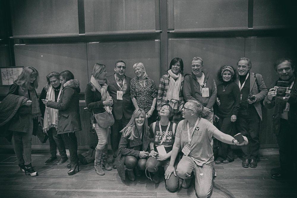 From left to right: Clarisse Debout, Edward Santos, Giulia Baita, Headattacks Crealitys, Dieter Gaebel, Andrea Bigiarini, Manuela Matos Monteiro, Joao Lafuente & Giuseppe Iannicelli.