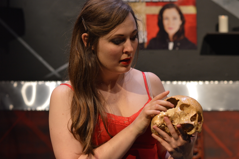 Stephanie Willis as Hamlet