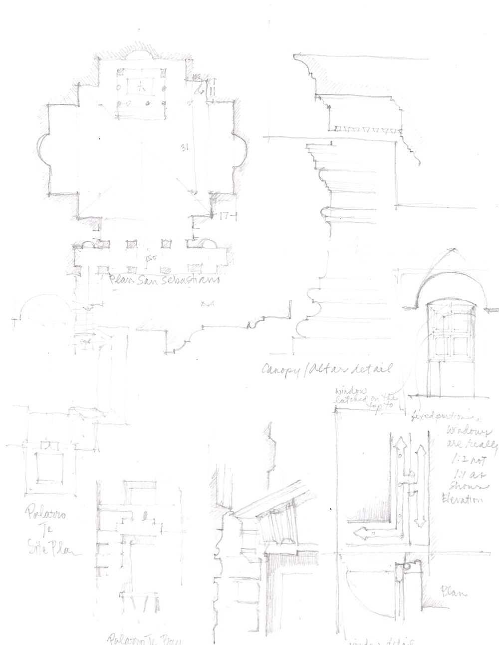 Variety of sketches from Mantua