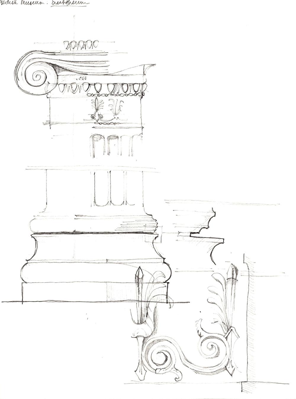 Column from the Erechtheion, British Museum