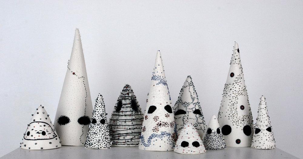 Always & Forever (Belief)  slipcast & handbuilt porcelain, underglaze, pigmented clay