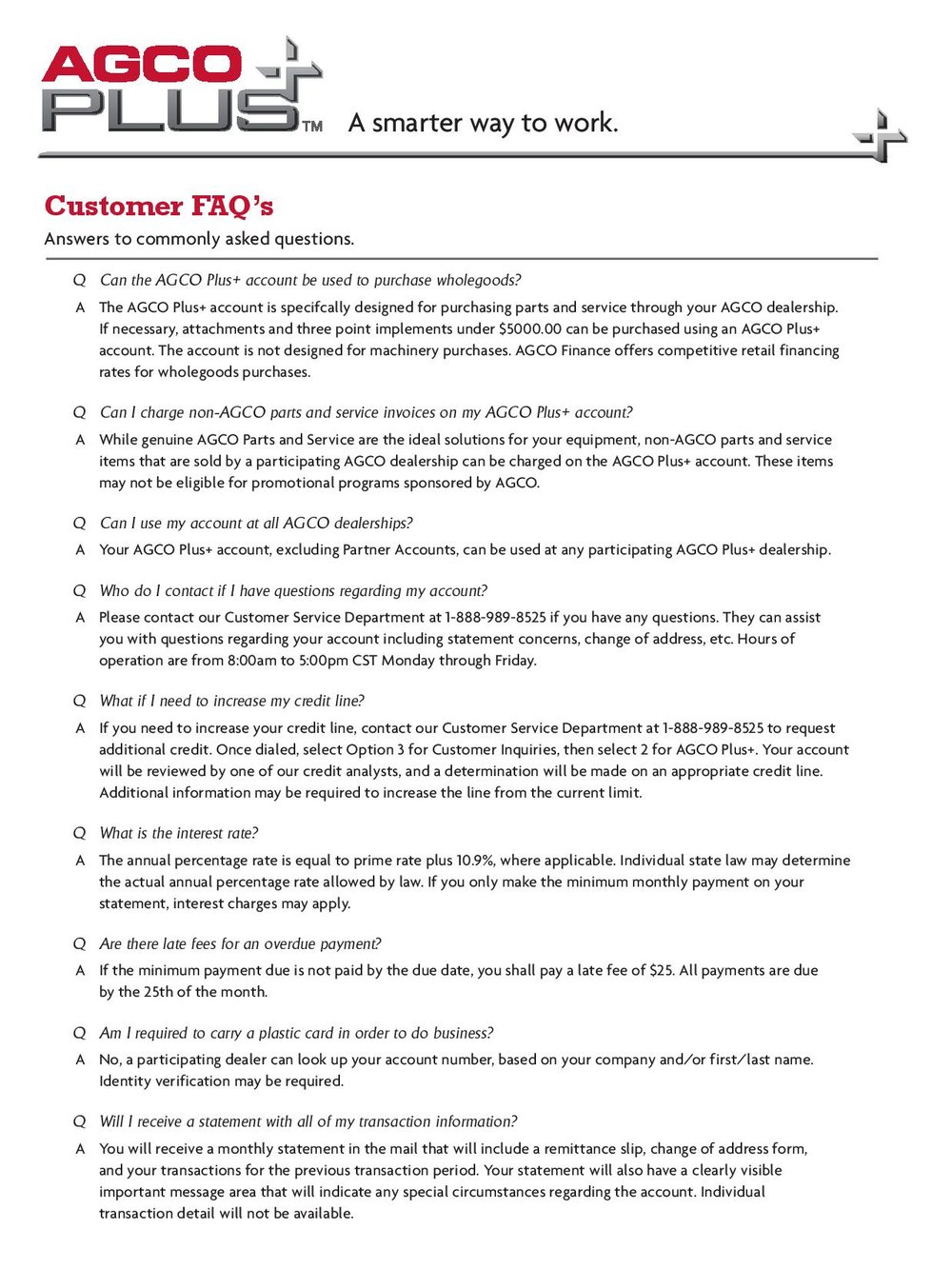 agco plus pentagon farm centre frequently asked questions