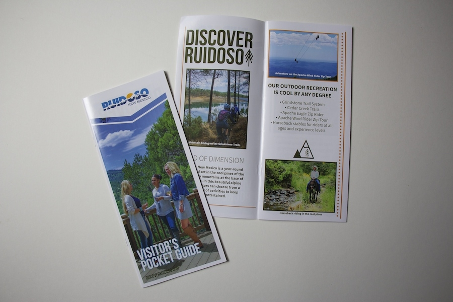 The final result | Pocket Guides can be found at Ruidoso Chamber of Commerce and around town in the brochure racks.