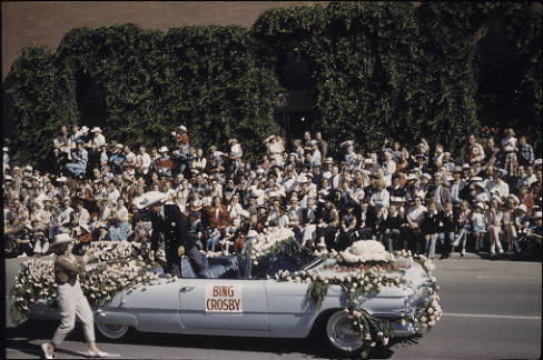 Bing Crosby at the Stampede Parade, 1959 (Photo: Alison Jackson Collection, Calgary Public Library)
