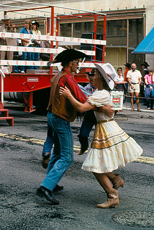 Stampede square dancers, 1982 (Photo: Rainer Halama, Wikimedia Commons)