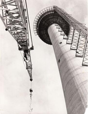 Husky Tower under construction, 1968 (Photo: Calgary Tower website)