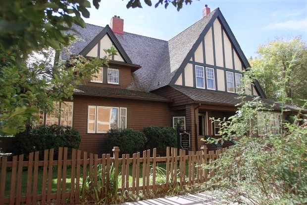 The Nellie McClung House (803-15th Avenue SW) is currently home to the Colombian Consulate. An enhanced replica of McClung's Calgary home opened in 2014 at Heritage Park as the Famous Five Centre of Canadian Women. (Photo: Calgary Herald)