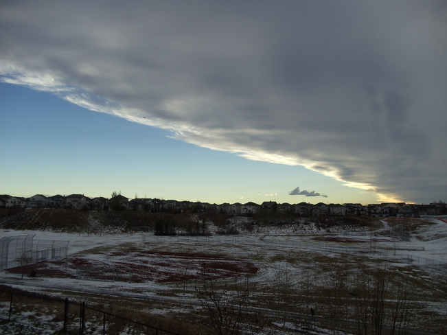 Chinook arch over Calgary in mid-winter  (Photo: Weather Network)