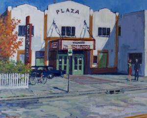The Plaza Theatre by Calgary artist, Stan Phelps (Photo: Arcadja Auctions)