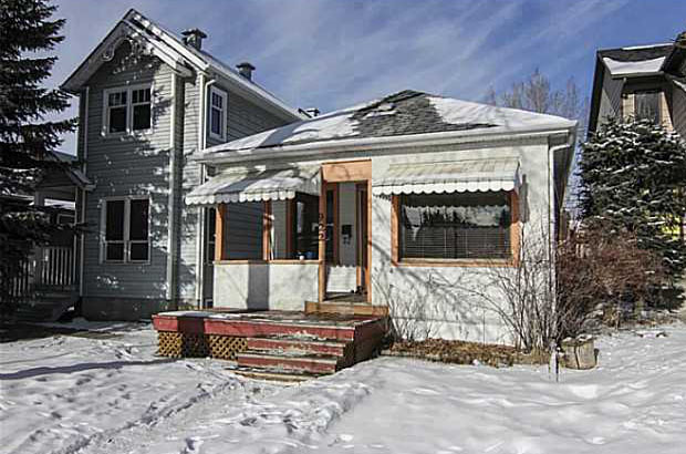 """""""Itching to live inner-city? This Mount Pleasant cutie is perfect for a first-time buyer's renovation project."""" This photo (and caption) appeared in a March 2014 Calgary Herald article, """"What $400,000 will buy you in Calgary.""""(Photo: Calgary Real Estate Board)"""