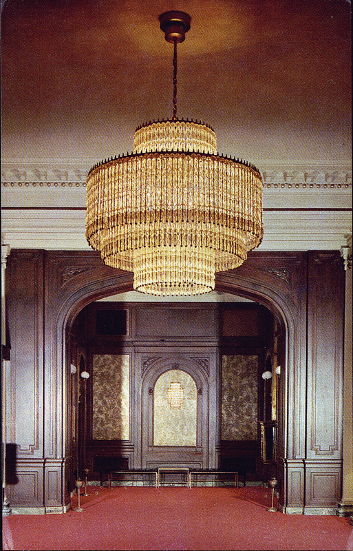 "The lobby of the Palliser Hotel, sometime after 1930. According to one character in John Ballem's novel The Barons, ""the Palliser is the real reason why Calgary ended up being the oil capital of Canada instead of that other place up the road."" (Photo: University of Alberta Peel's Prairie Provinces)"