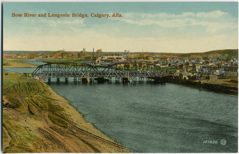 Calgary's Langevin Bridge, as it once was. This week, city councillors renamed this historic river crossing the Reconciliation Bridge. (Photo: Calgary Public Library Postcards from the the Past)