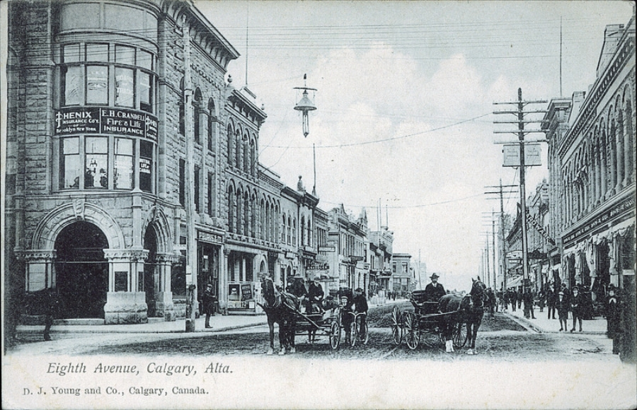 Stephen Ave in 1906 (Photo: Peel's Prairie Provinces)