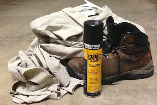 Make your clothes insect repellent