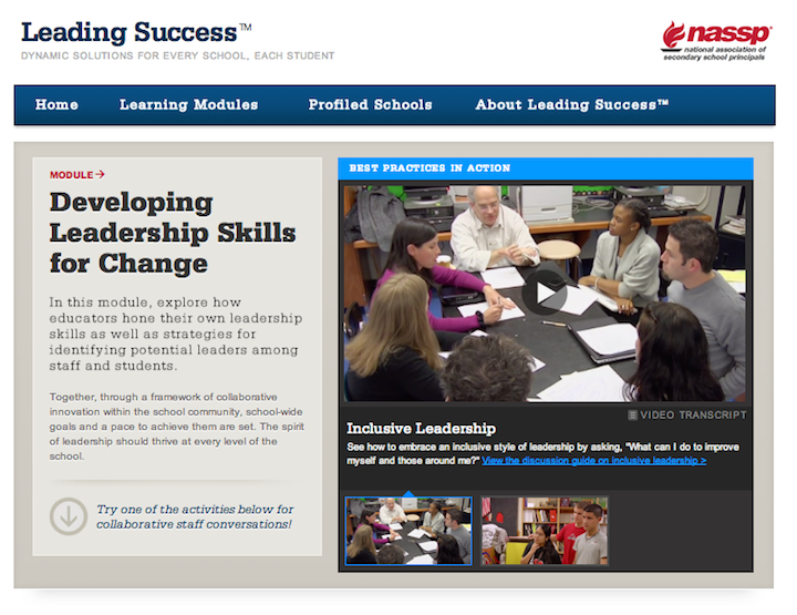 Sample screenshot of a learning module video.