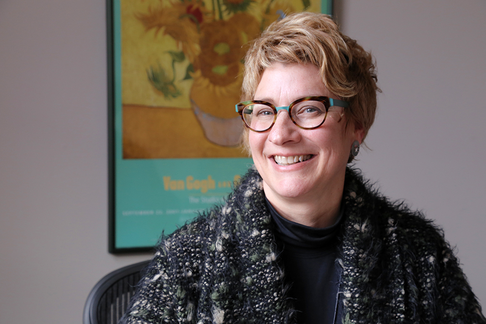 Zoe Barsness connects across campuses as chair of faculty senate