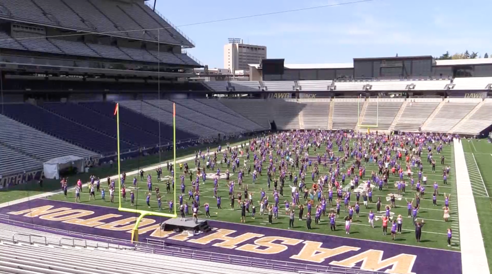 UW Fitness Day 2018 - On May 2, more than 1,100 staff, students, and faculty made University of Washington history