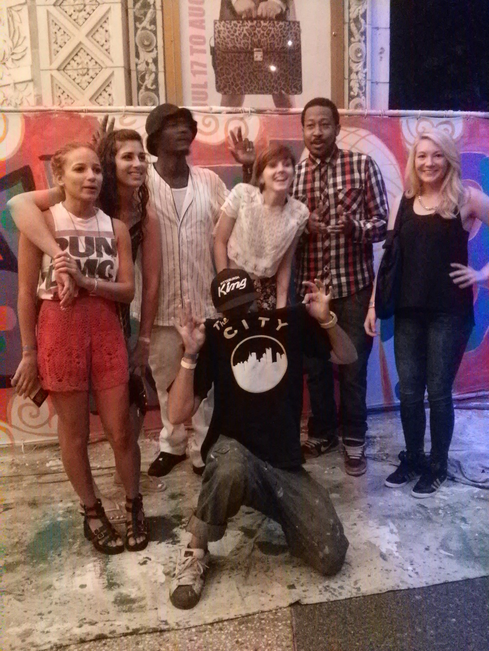 Mac Millers ex girlfriend Nomi Leasure featured on the far left, some of our MLK team and some guests!