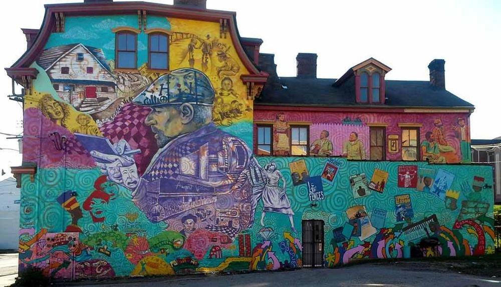 2014 August Wilson mural by kh