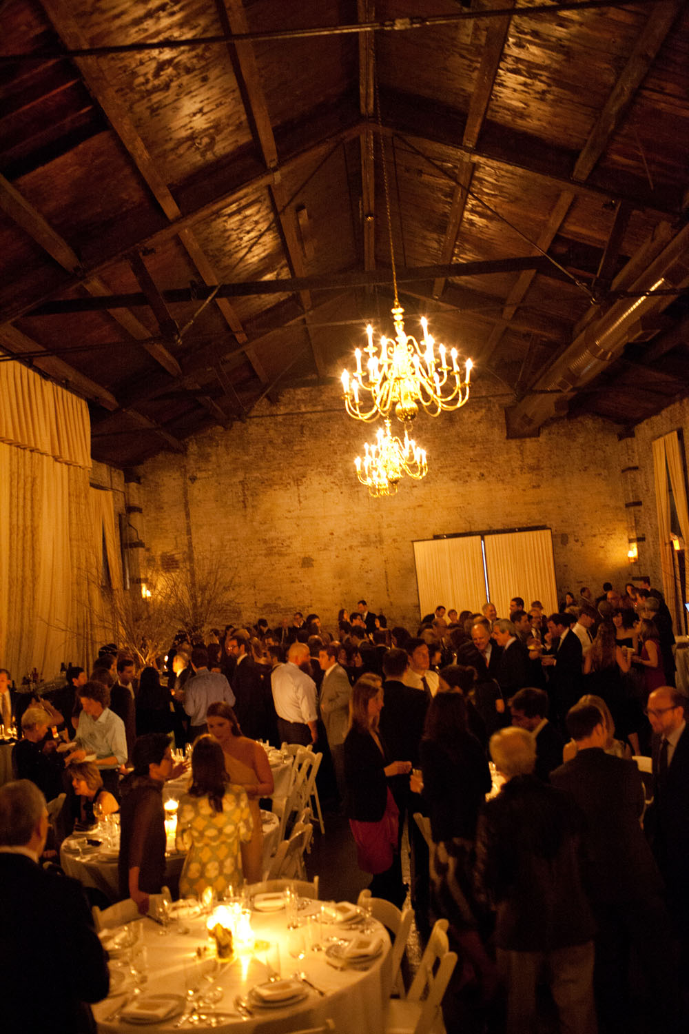 wedding reception at the Green Building