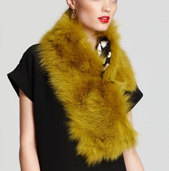Diane Von Furstenberg Fur Wrap