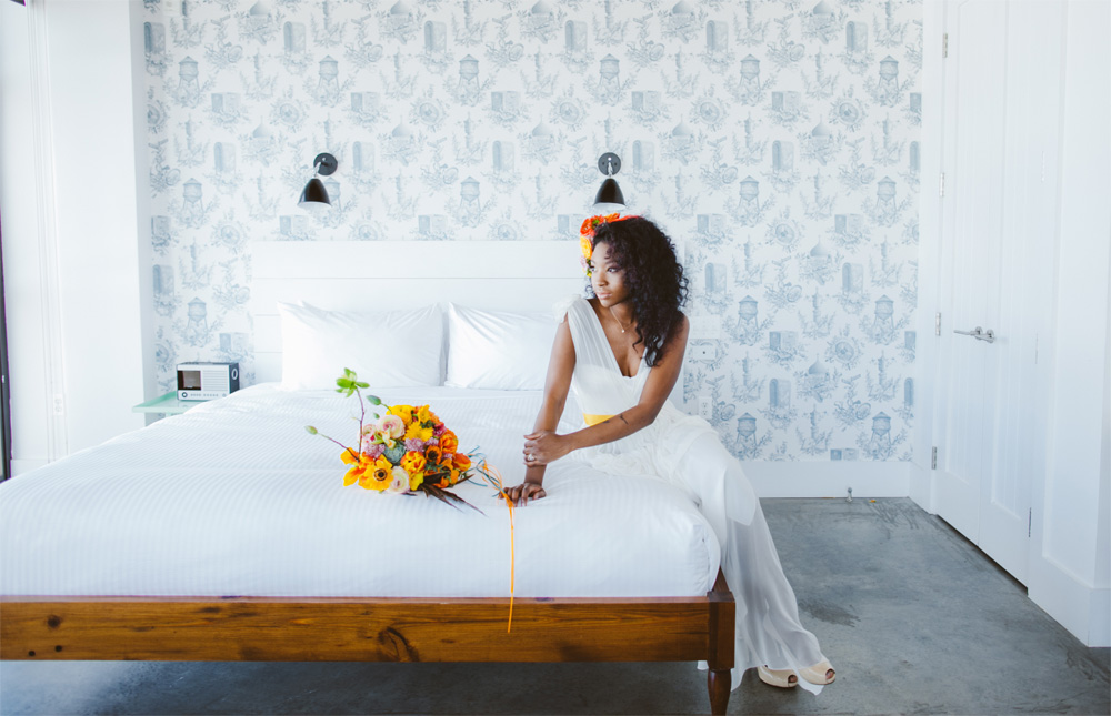 bride at Wythe hotel