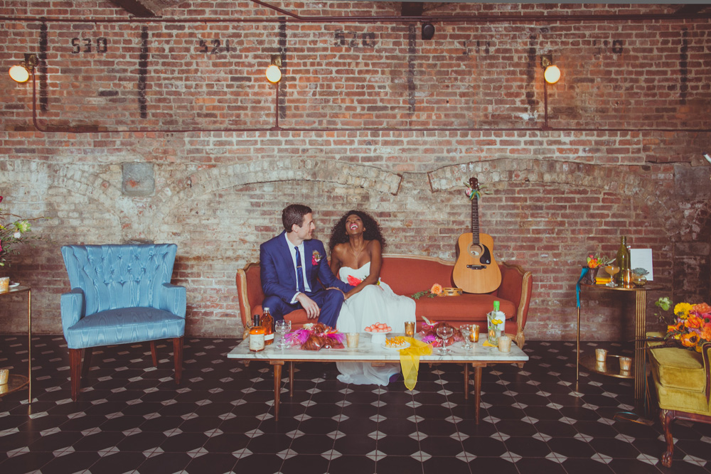 neon wedding at Wythe Hotel