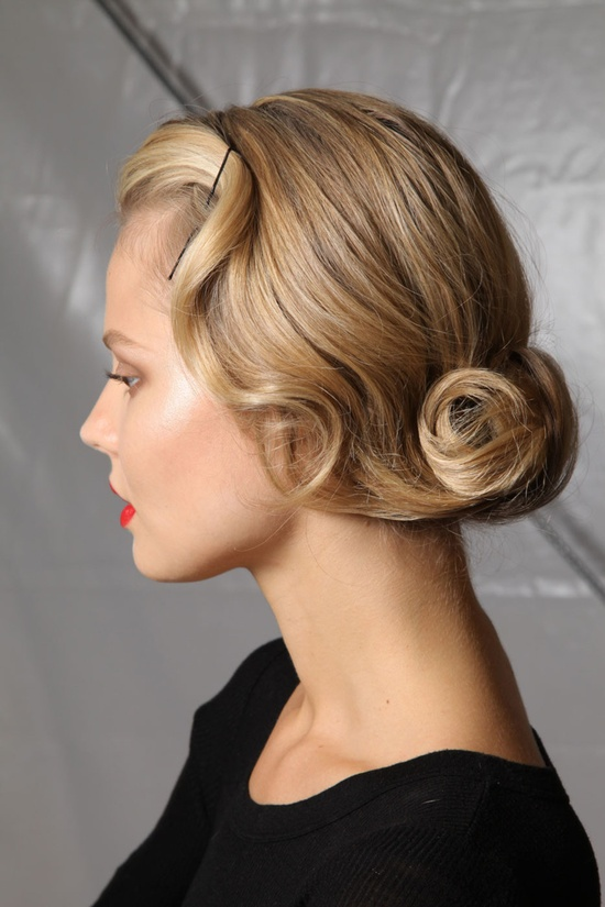 Vintage waves updo
