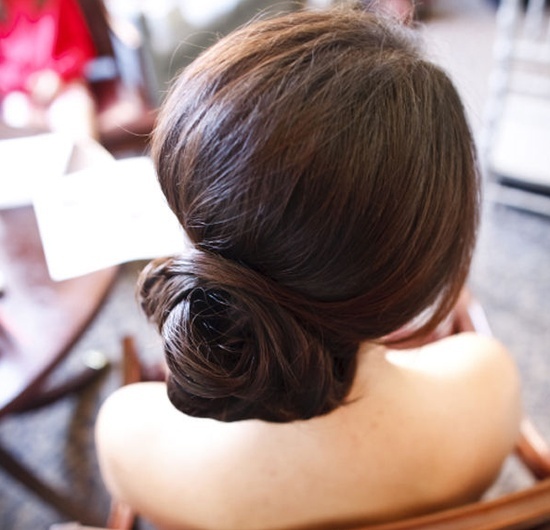 Polished low chignon