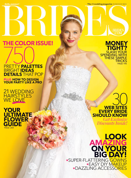 BRIDES On-line , June 2013   an interview with Angela
