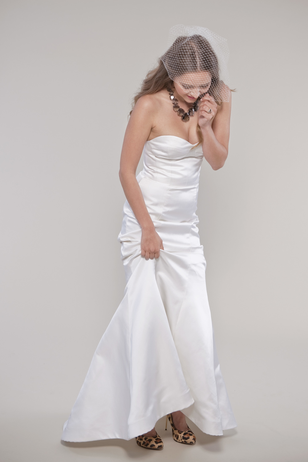 winifred bean calla lily mermaid wedding gown