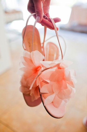 pretty pink wedding sandals
